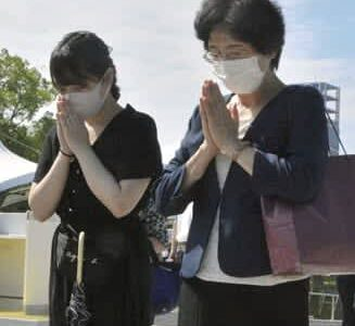 原爆犠牲者 忘れない 父の体験、後世に 熊本県代表で参列の古賀さん